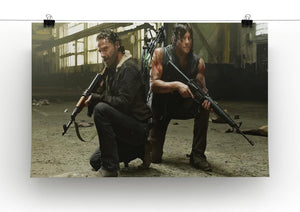 Rick and Daryl The Walking Dead Print - Canvas Art Rocks - 2
