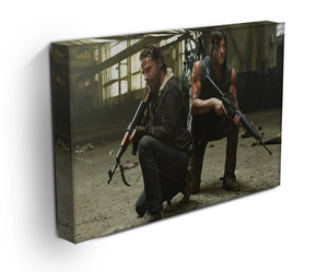 Rick and Daryl The Walking Dead Print - Canvas Art Rocks - 3