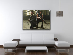 Rick and Daryl The Walking Dead Print - Canvas Art Rocks - 4