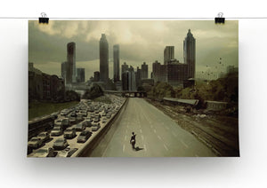 Rick Riding Into Atlantas City The Walking Dead Print - Canvas Art Rocks - 2