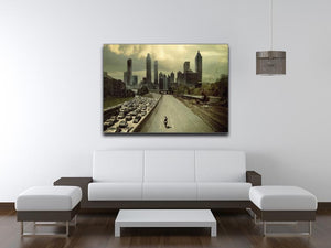 Rick Riding Into Atlantas City The Walking Dead Print - Canvas Art Rocks - 4