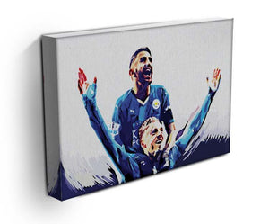 Rihad Mahrez and Jamie Vardy Canvas Print or Poster