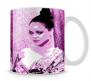 Rihanna Purple Pop Art Mug - Canvas Art Rocks - 1