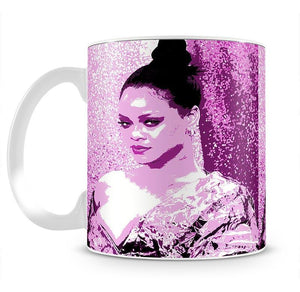 Rihanna Purple Pop Art Mug - Canvas Art Rocks - 2