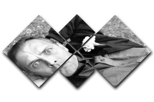 Rik Mayall 4 Square Multi Panel Canvas  - Canvas Art Rocks - 1