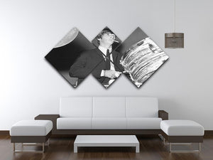Ringo Starr playing the drums 4 Square Multi Panel Canvas - Canvas Art Rocks - 3