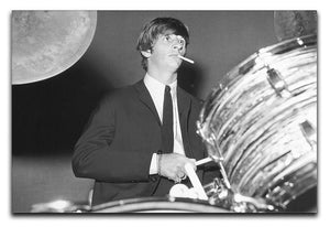 Ringo Starr playing the drums Canvas Print or Poster  - Canvas Art Rocks - 1