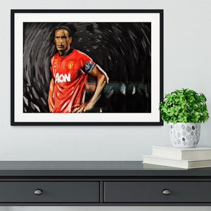 Rio Ferdinand Manchester United Framed Print - Canvas Art Rocks - 1
