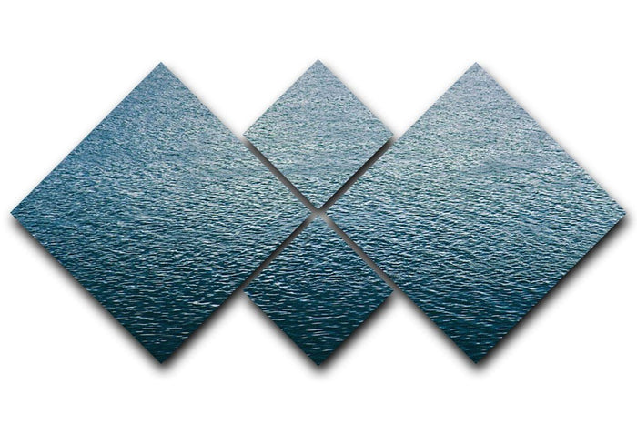 Ripple on blue water 4 Square Multi Panel Canvas