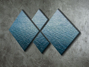 Ripple on blue water 4 Square Multi Panel Canvas  - Canvas Art Rocks - 2