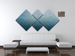 Ripple on blue water 4 Square Multi Panel Canvas  - Canvas Art Rocks - 3