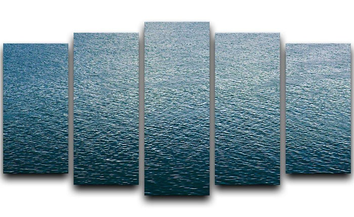 Ripple on blue water 5 Split Panel Canvas