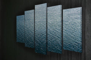Ripple on blue water 5 Split Panel Canvas  - Canvas Art Rocks - 2