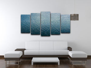 Ripple on blue water 5 Split Panel Canvas  - Canvas Art Rocks - 3