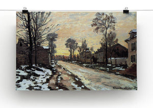 Road to Louveciennes melting snow children sunset by Monet Canvas Print & Poster - Canvas Art Rocks - 2