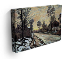 Road to Louveciennes melting snow children sunset by Monet Canvas Print & Poster - Canvas Art Rocks - 3