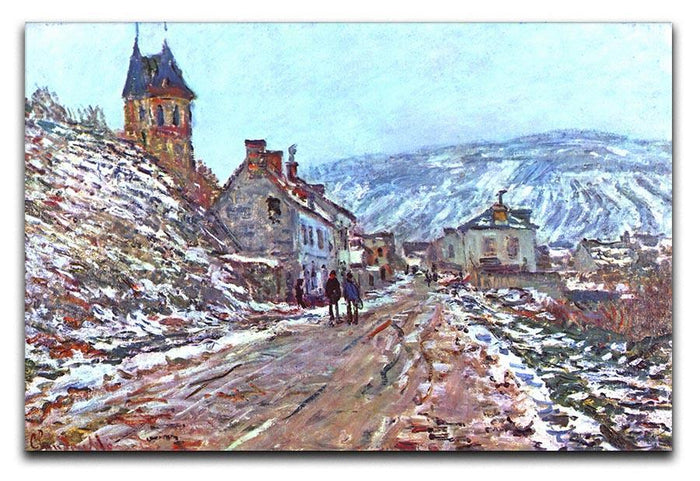 Road to Vetheuil in winter by Monet Canvas Print or Poster