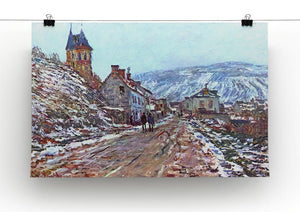 Road to Vetheuil in winter by Monet Canvas Print & Poster - Canvas Art Rocks - 2
