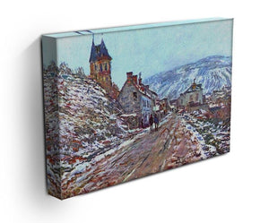 Road to Vetheuil in winter by Monet Canvas Print & Poster - Canvas Art Rocks - 3