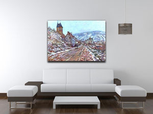 Road to Vetheuil in winter by Monet Canvas Print & Poster - Canvas Art Rocks - 4