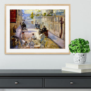 Road workers rue de Berne by Manet Framed Print - Canvas Art Rocks - 3