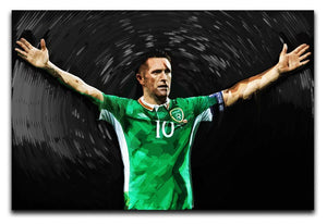 Robbie Keane Ireland Canvas Print - Canvas Art Rocks - 1