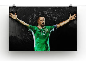 Robbie Keane Ireland Canvas Print - Canvas Art Rocks - 2