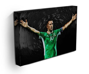 Robbie Keane Ireland Canvas Print - Canvas Art Rocks - 3