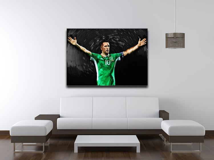 Robbie Keane Ireland Canvas Print - Canvas Art Rocks - 4