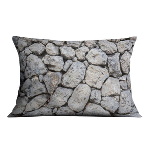 Rock wall texture Cushion - Canvas Art Rocks - 4