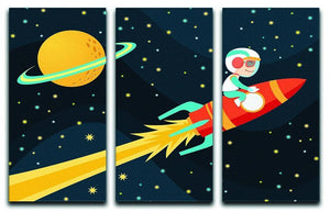 Rocket Boy 3 Split Panel Canvas Print - Canvas Art Rocks - 1