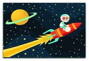 Rocket Boy Canvas Print or Poster  - Canvas Art Rocks - 1