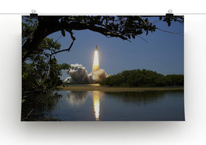 Rocket Over Lake Print - Canvas Art Rocks - 2