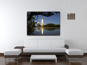 Rocket Over Lake Print - Canvas Art Rocks - 4