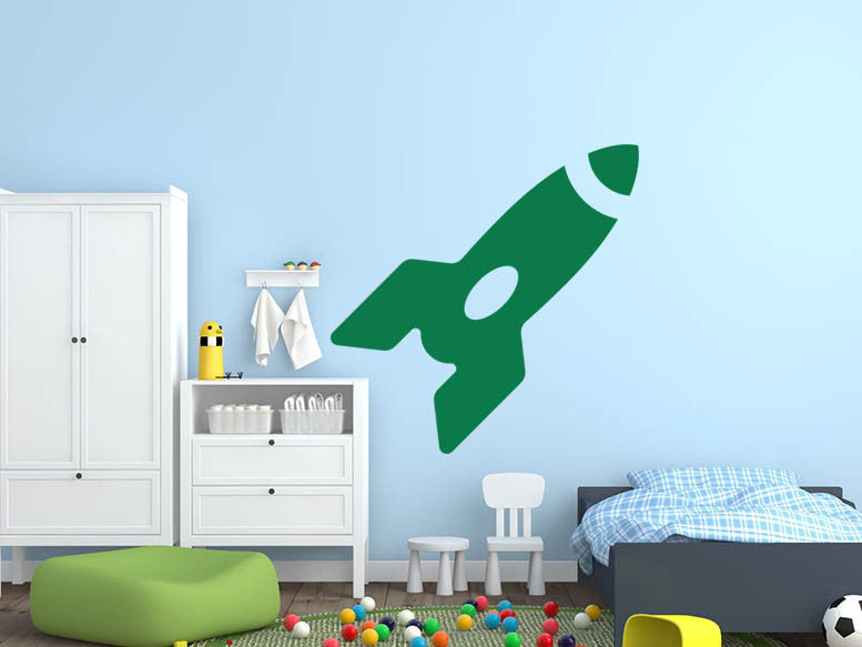 Rocket - Version 1 Wall Decal - US Canvas Art Rocks