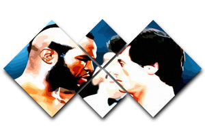 Rocky III Face Off 4 Square Multi Panel Canvas  - Canvas Art Rocks - 1