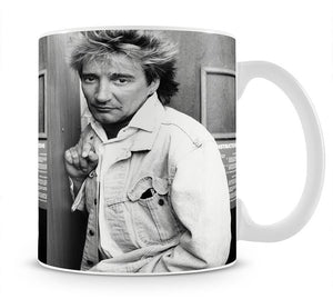 Rod Stewart in 1986 Mug - Canvas Art Rocks - 1