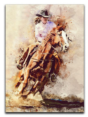 Rodeo Painting Canvas Print or Poster  - Canvas Art Rocks - 1