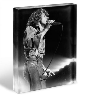 Roger Daltrey on stage Acrylic Block - Canvas Art Rocks - 1