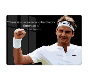 Roger Federer Hard Work HD Metal Print