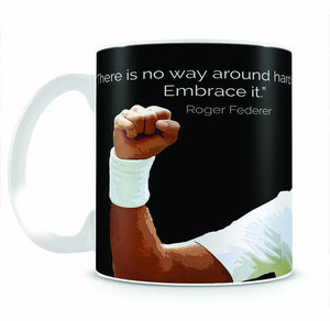 Roger Federer Hard Work Mug - Canvas Art Rocks - 2