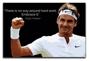 Roger Federer Hard Work Canvas Print & Poster - US Canvas Art Rocks
