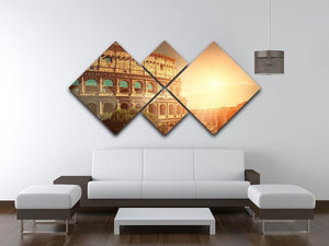 Roman Coliseum 4 Square Multi Panel Canvas  - Canvas Art Rocks - 3