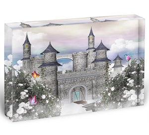 Romantic castle Acrylic Block - Canvas Art Rocks - 1