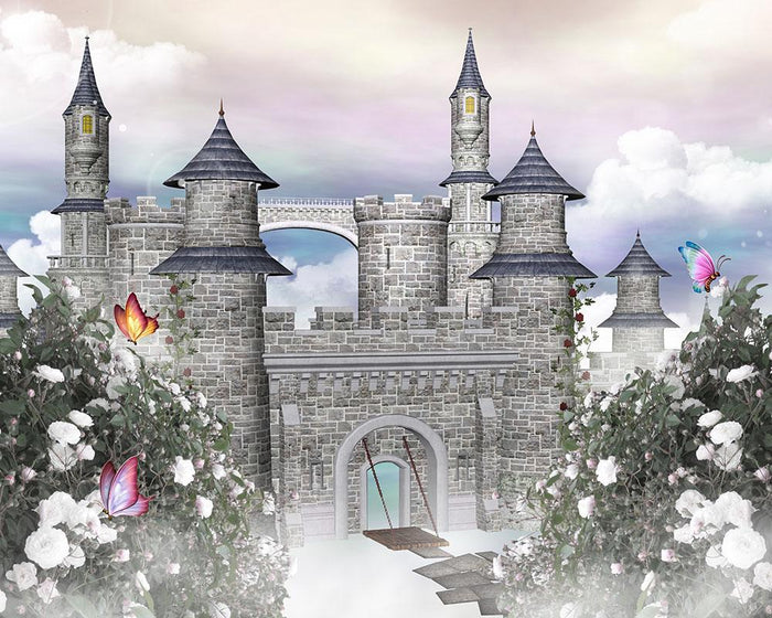 Romantic castle Wall Mural Wallpaper
