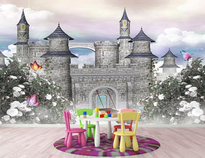 Romantic castle Wall Mural Wallpaper - Canvas Art Rocks - 2