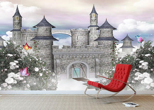Romantic castle Wall Mural Wallpaper - Canvas Art Rocks - 3