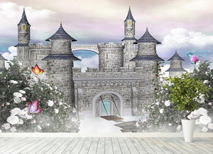 Romantic castle Wall Mural Wallpaper - Canvas Art Rocks - 4