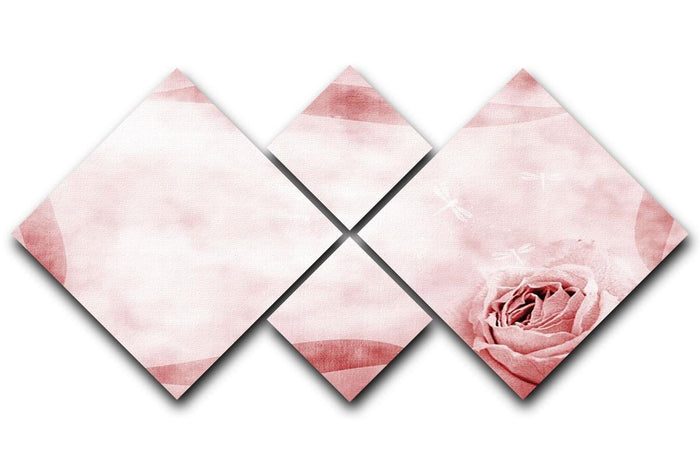 Romantique grunge border 4 Square Multi Panel Canvas