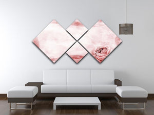 Romantique grunge border 4 Square Multi Panel Canvas  - Canvas Art Rocks - 3